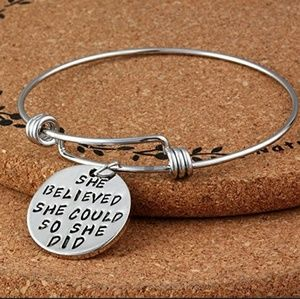 Jewelry - She believed she could so she did bracelet